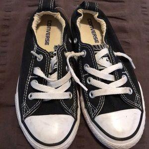 Girls black converse shoes